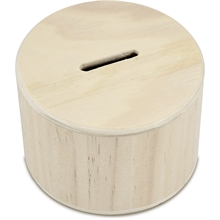 Tirelire en bois