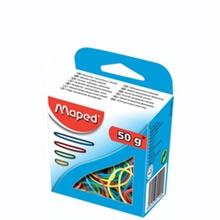 Maped Bracelets caoutchouc en carton, 50 g, assortis