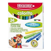 Etui à 24 feutres Fibracolor Colorito pointe fine