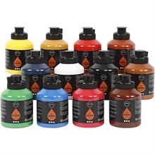 Set de 12 fl. Pigment Art School Acryl 500 ml