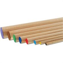 Pqt de 10 baguettes rondes en bois - 100cm