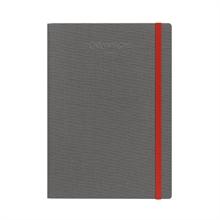 CARAN D'A Carnet A5 454.601 gris ligné, tissu