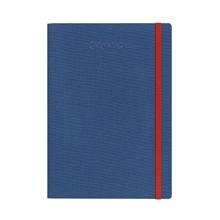 CARAN D'A Carnet A5 454.605 bleu ligné, tissu