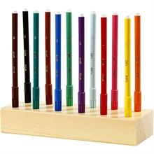 Paquet de 12 couleurs Bic Visa KID fins avec socle en bois inclus feutres