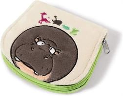 Porte-monnaie hippopotame peluche