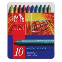 Boîte de 10 craies CA NEOCOLOR I couleurs métalliques