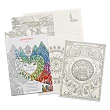 CARAN D'ACHE Cartes à colorier Esprit des Alpes FSC