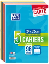 Oxford Cahier piqûre, A4, Seyes, 96 pages, lot de 5