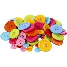 Boutons en plastique, d: 10+15+20+22 mm, 2-4 trous, 500 gr.