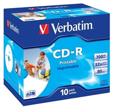 Pack de 10 CD-R 700/80 52 x printable