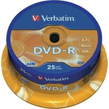 Pack de 25 vrac DVD-R 4.7 GB 16 x