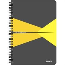 """LEITZ Cahier """"Office"""", A5, quadrillé, 180 pages, jaune"""