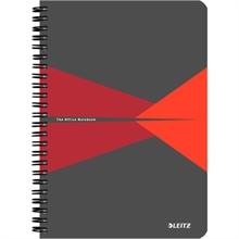 """LEITZ Cahier """"Office"""", A5, quadrillé, 180 pages, rouge"""