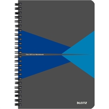"""LEITZ Cahier """"Office"""", A5, quadrillé, 180 pages, bleu"""