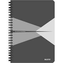 """LEITZ Cahier """"Office"""", A5, quadrillé, 180 pages, gris"""