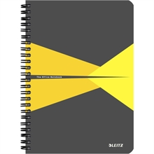 "LEITZ Cahier ""Office"", A5, ligné, 180 pages, jaune"