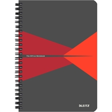 """LEITZ Cahier """"Office"""", A5, ligné, 180 pages, rouge"""