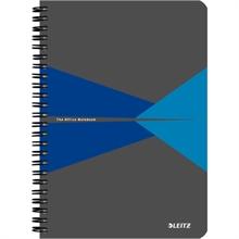 """LEITZ Cahier """"Office"""", A5, ligné, 180 pages, bleu"""
