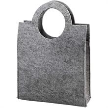Sac de dame en feutrine 28x40x9,5cm gris