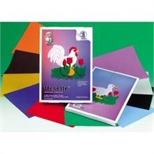 Pqt de 10 flles de bricolage URSUS couleurs assorties 23 x 33 cm