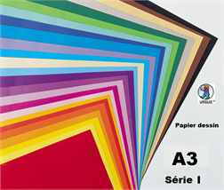Pqt de 100 feuilles papier dessin A3 130gm2