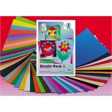 Paquet combi Cartons et feuilles de couleurs