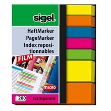 Sigel index repositionnable 50x63mm