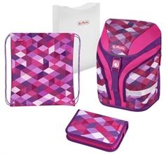 """Sac à dos scolaire Motion Plus """"Pink Cubes"""""""