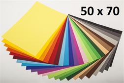 Pqt de 10 flles Papier à dessin 50x70cm 130gm2