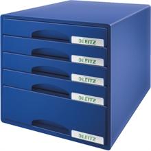 LEITZ Schubladenbox Plus, 5 Schbe, blau
