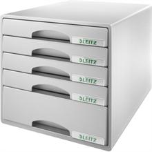 LEITZ Schubladenbox Plus, 5 Schbe, grau