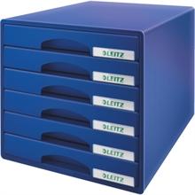 LEITZ Schubladenbox Plus, 6 Schbe, blau