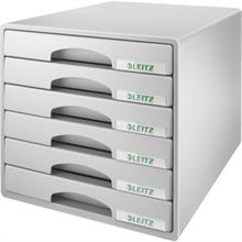 LEITZ Schubladenbox Plus, 6 Schbe, grau