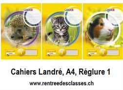 Cahier Landré A4 - 16f.  linéature 1 / ligné