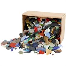 Carreaux de mosaïques, dim. 15-60 mm, épaisseur 5 mm, 2 kg, Couleurs assorties