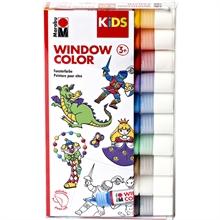 Marabu KiDS Window Color, kit de 10, assorti