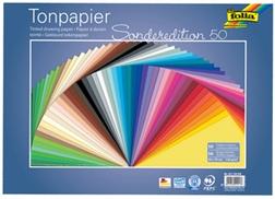 Pqt de 50 flles Papier couleurs, 250 x 350 mm