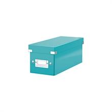 LEITZ coffret pour CD Click & Store WOW, bleu glacé,