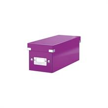 LEITZ coffret pour CD Click & Store WOW, violet