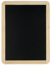 Ardoise noire avec cadre en bois