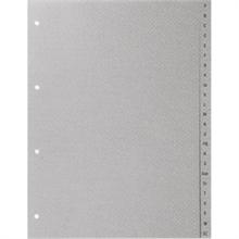 Répertoire A-Z BüroLine® - A4 - en plastique gris clair