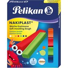 Pâte à modeler Pélikan Nakiplast grande qualité 7 couleurs