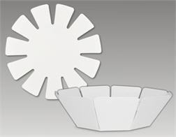 Pqt de 10 formes corbeille en papier