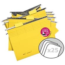 Pqt de 25 dossiers VETRO MOBIL 25cm couleur - avec accessoires