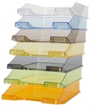 Corbeille à courrier Biella Brillant transparente