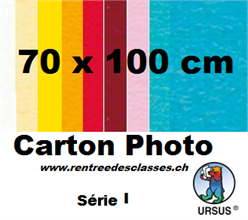Pqt de 10 cartons affiches 70x100 - 300gm2