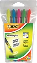 """BIC Surligneur """"Technolight"""", étui de 5, technologie Liquid"""