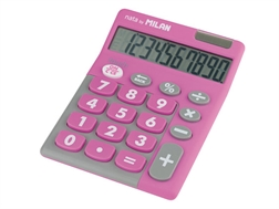 Calculatrice 10 chiffres Touch Duo Milan rose