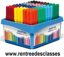 Pack école de 108 feutres GIOTTO Turbo Maxi
