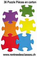 Pochette de 36 Puzzle en carton